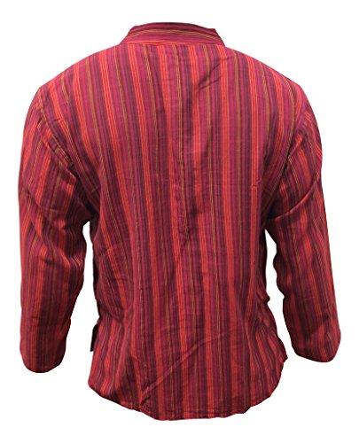 Multicolor mix de rayas dharke manga larga ligera con función atril cómoda camiseta de manga corta para abuelo tradicional, hippy de flores, a xxl xxxl con el logo de p.blue mix