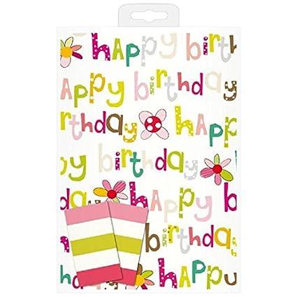Caroline Gardner Buon Compleanno Wrap E Stile Parole 2 Fogli 2