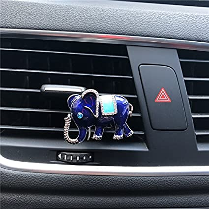Interior Accessories Auto Decor Animal Decorated Automobile Accessories Gift Car Ornament Car Vent Clip Air Freshener Cute Gift Diamond Elephant Automobiles & Motorcycles