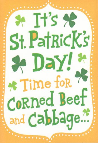 (Greeting Card St Patrick's Day