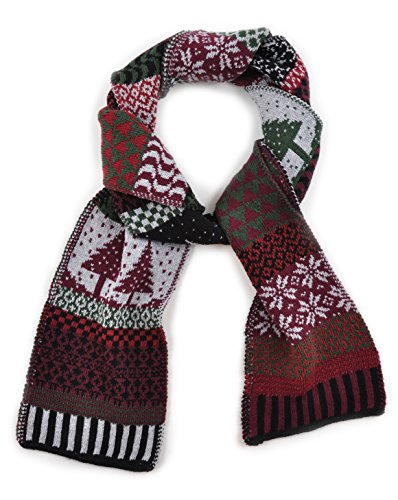 Solmate Scarf, USA Made with Soft Recycled Cotton Yarns, Poinsettia