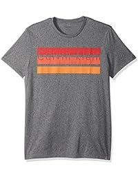 Men's Short Sleeve Knockout Logo Stripe Crew Neck T-Shirt