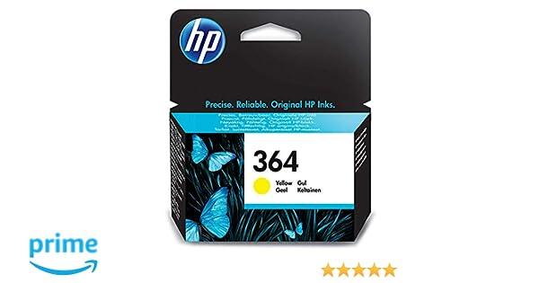 HP 364 Cartucho de Tinta Original Amarillo (CB320EE), Embalaje puede Variar