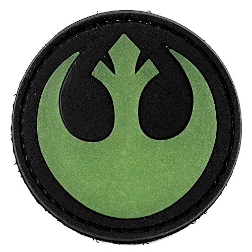 LIVABIT PVC Rubber 3D Morale Patch MP-41 Tactical Airsoft Paintball Star Wars Rebellion Symbol Logo Rebel Glow In The Dark ()