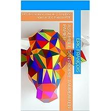 Assemble ton propre taureau en papier: DIY décoration murale | Trophée animal 3D | Patron PDF (Ecogami / sculpture en papier t. 19) (French Edition)