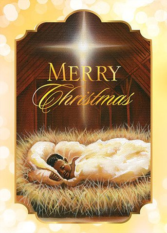 Search : Baby Jesus: African American Christmas Card Box Set (7x5 inches) - African American Greeting Card
