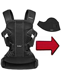 Baby Bjorn Baby Carrier One Air Mesh with Bib and FREE Safety Reflector - Black BOBEBE Online Baby Store From New York to Miami and Los Angeles