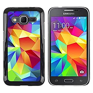 Paccase / SLIM PC / Aliminium Casa Carcasa Funda Case Cover para - Crystal Art Colors Structure Art Painting - Samsung Galaxy Core Prime SM-G360