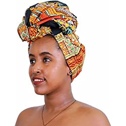 FANS FACE Traditional Dashiki African Wax Print Nigerian Head Wrap Headtie Scarf Gele Headwear Lots Colors Available