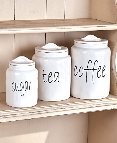 Stated Simply Canister Set for Sugar, Tea, Coffee
