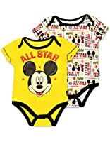 Baby Boys' Mickey Mouse Onesie - Yellow