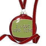 Christmas Decoration I Love Spa Time Spa Stones Rocks Ornament