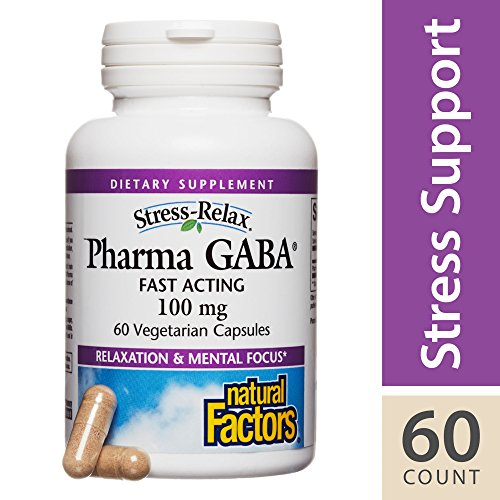 Natural Factors Stress-Relax Pharma GABA -- 100 mg - 60 Vegetarian Capsules
