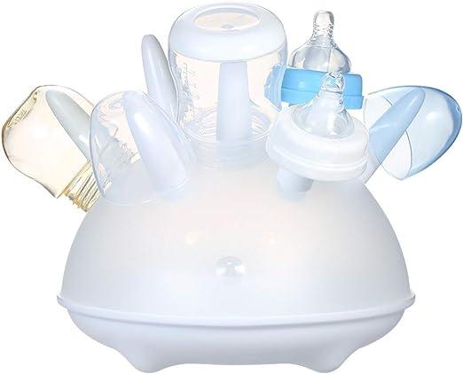 Leebaby cmbear Stendibiancheria BPA-Free Resistente al Calore Biberon Asciugatrice per Tazze Capezzoli Porta scopino Facile da Pulire Bianco