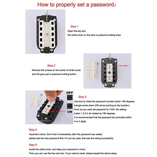 VARANDA Key Box Wall-mounted Security Key Safe Box Button