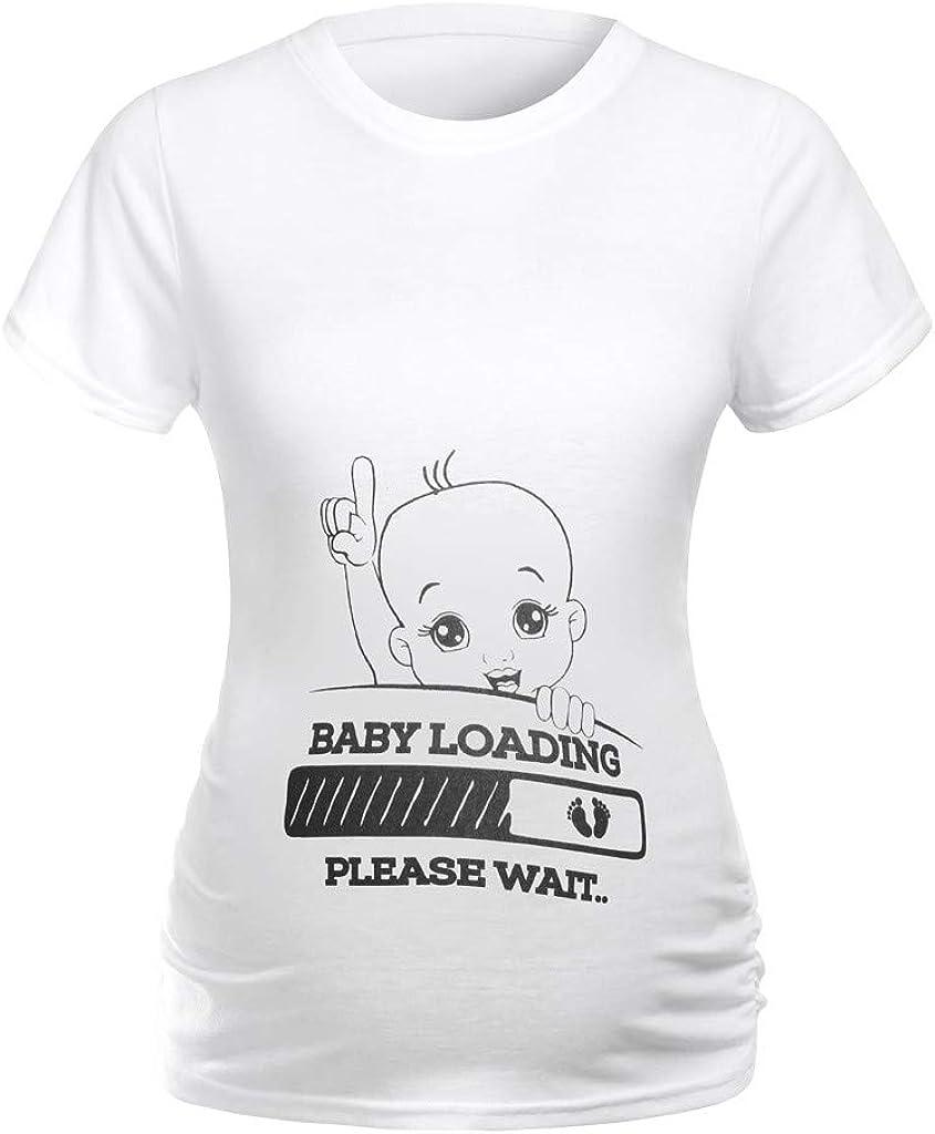 Allence Schwangerschaftsshirt Lustige Witzige S/ü/ßE Umstandsmode Sweatshirt Umstandsshirt Mit Motiv F/üR Die Schwangerschaft Kurzarm