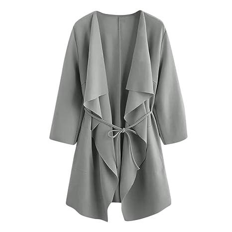 LILICAT® Mujeres Casuales Casuales Cuello Bolsillo Frente Abrigo Abrigo Chaqueta Abrigo Suéter (Azul Amarillo