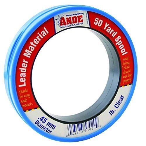 Ande PCW50-40 Mono Leader Wrist, 50-Yard Spool, 40-Pound   B015QF5J0Y