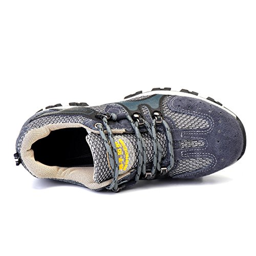 Men's Safety Shoes Steel Toe Work Sneakers Slip Resistant Breathable Hiking Climbing Shoes - 7.5 by Anddoa (Image #6)