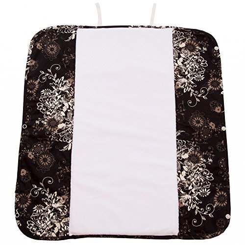 The Plush Pad Portable Changing Pad with Memory Foam, Earth Brown Pattern
