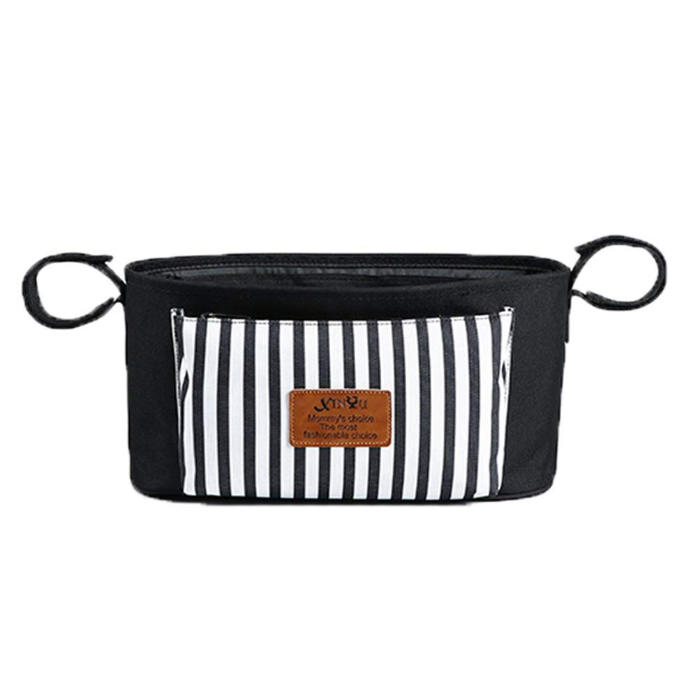 XIAOJUANJUAN Pram Buggy Organiser Bag The Perfect Buggy and Pram Accessory and Baby Gift for New Parents (Color : Black, Size : 33x16x16cm)