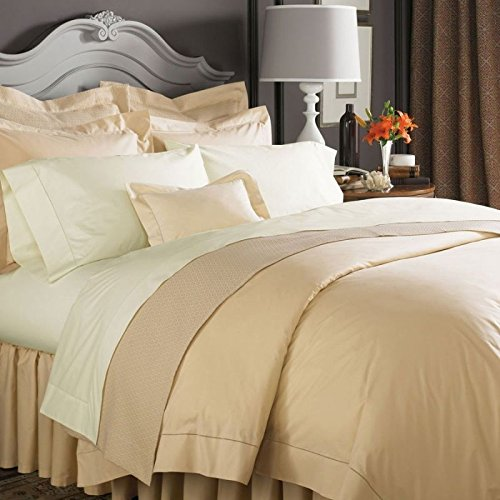 - Sferra Celeste Collection Chestnut Brown Queen Sheet Set