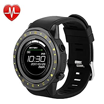 QWMoonRu Bluetooth Mens Smartwatch with Heart Rate Blood Pressure Sleep Monitor Pedometer, Touchscreen Round Face Smart Watch Sports Watches ...
