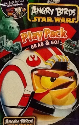 Play Pack Grab & Go! Mini Set~ Angry Birds Star Wars ~ Flying Force ~ Crayons ~ Stickers ~ Coloring Book ()