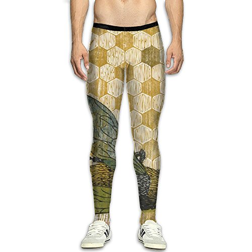 Price comparison product image Fri Hive Honeycomb Base Layer Compression Pants / Running Tights Panel Leggings Men Mens Christmas