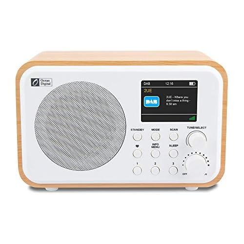 chollos oferta descuentos barato Ocean Digital DK336 Radio portátil Dab Dab FM con batería Recargable incorporada 3 Botones preestablecidos de hasta 20 Estaciones para Cada Dab y FM