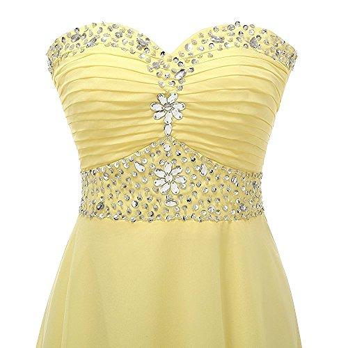 Champagner Wulstige CoutureBridal® Brautjungferkleid Chiffon Kleid Abendkleider Damen Ballkleid Lang T8zaT
