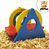 Alfie Pet by Petoga Couture - Karo Colorful Wooden Swing Toy for Small Animals like Dwarf Hamster and Mouse