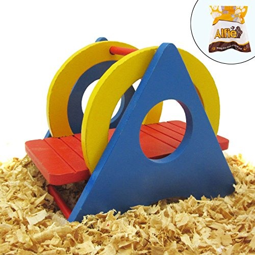 Alfie Pet by Petoga Couture - Karo Colorful Wooden Swing Toy for Small Animals like Dwarf Hamster and Mouse by Alfie