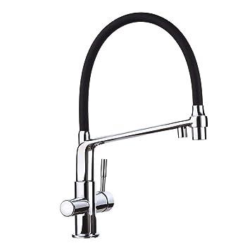 Favorit GAPPO 2-Strahlen Küchenarmatur 3 wege Wasserhahn Küche mit Brause XG16