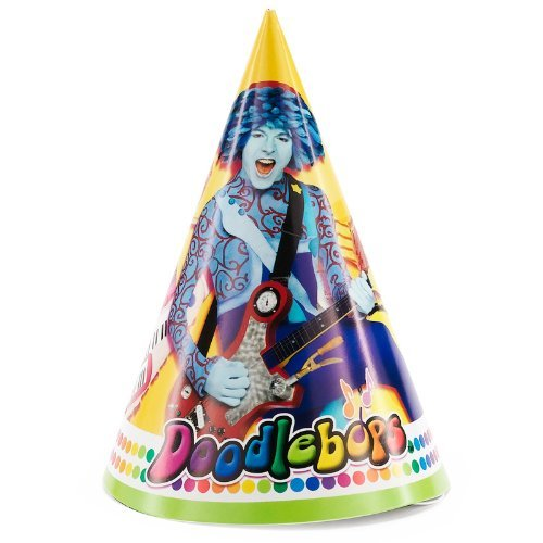 Doodlebops Paper Cone Hats (8ct) ()