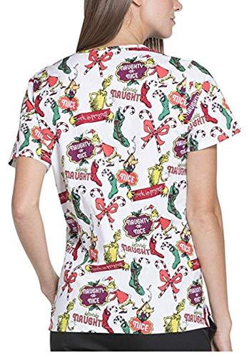 cea3cd12ab2 ScrubStar Scrub Top - Dr. Seuss' The Grinch Definitely Naughty Women  (XLarge)