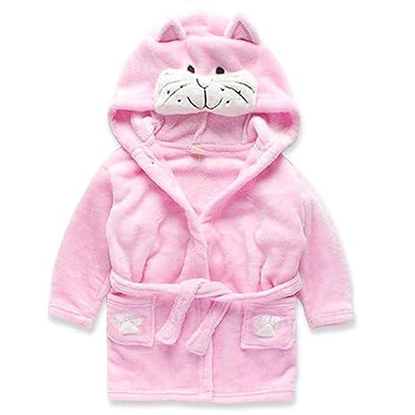 XOLSKS Pijamas para Niños, Batas De Baño Infantiles De Anime para Niños, Franela,