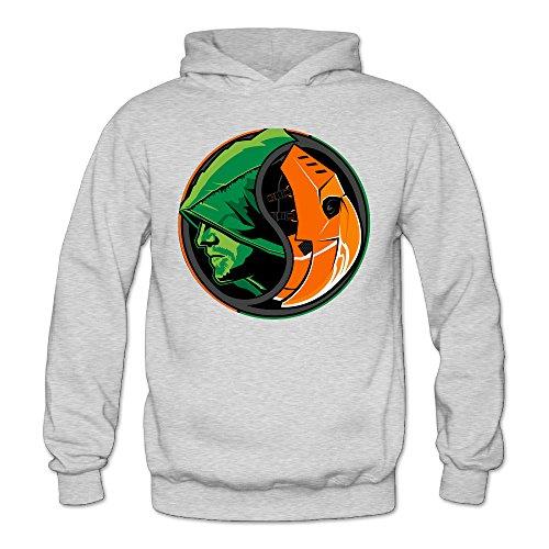 [DETO Women's Green Arrow Sweater Ash Size XL] (Green Arrow Hoodie Costume)