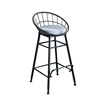 Miraculous Amazon Com Modern Bar Stool Wrought Iron Lounge Chair Creativecarmelina Interior Chair Design Creativecarmelinacom