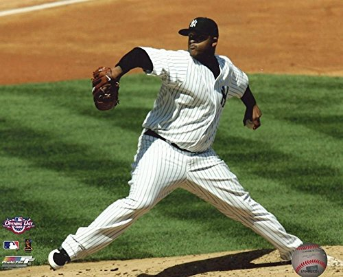 CC SABATHIA NEW YORK YANKEES UNSIGNED 8X10 PHOTO