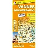 Plan de ville de Vannes et de son agglomération - Échelle 1/11 000, avec index - Localisation des stations Vélocéa