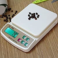 YAZATI Digital Kitchen Scale Electronic Digital Kitchen Weighing Scale for Kitchen/Weight Machine for Kitchen, 10 Kgs Weight Measure Spices Vegetable Liquids, Ivory