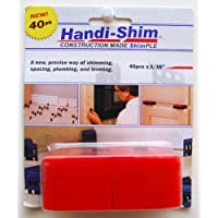 Handi-Shim HS11640RD Plastic Construction Shims / Spacers, 40 Pack, 1/16-Inch, Red by Handi-Shim