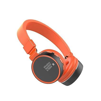 WANG Auriculares inalámbricos Bluetooth Sobre el oído Auriculares estéreo compatibles con FM Auriculares Manos Libres