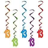 "Beistle 52138-13""13"" Whirls (5 Pack), 3, Multicolor"