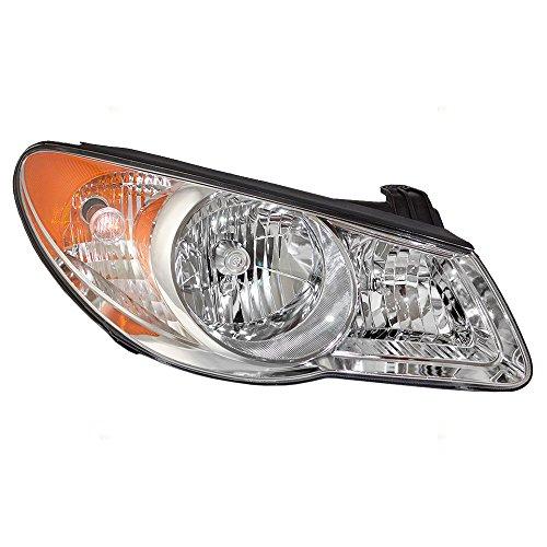 Passengers Halogen Headlight Replacement for 07-10 Hyundai Elantra Sedan Combination Headlamp Park Light Assembly 921022H050 921022H051 AutoAndArt ()