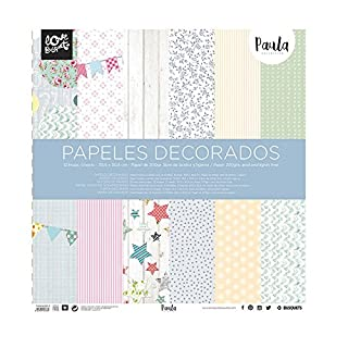 papel scrapbooking Paula 30,5x30,5