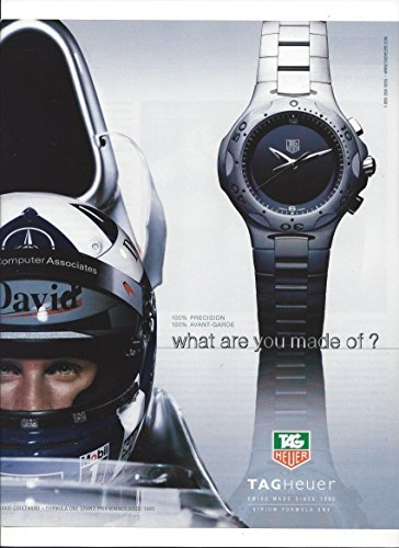 --PRINT AD-- With Formula I Driver David Coulthard For Tag Heuer Watches --PRINT AD--