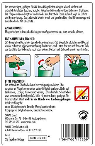 SONAX 04123000 - Toallitas limpiadoras para cuero: Amazon.es: Coche y moto