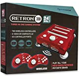 Hyperkin RetroN 3 Video Game System for NES/SNES/GENESIS Console 2.4Ghz Edition - Laser Red